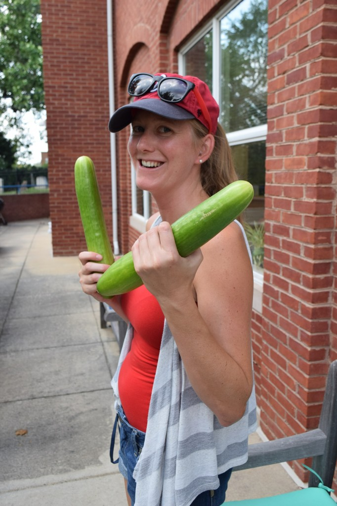 Ashlea and cucumbers