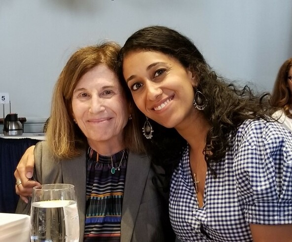 Barbara and Amira El-Gawly, one of Catalogue for Philanthropy board members, at DC Campaign's May 2nd Change the Conversation Luncheon