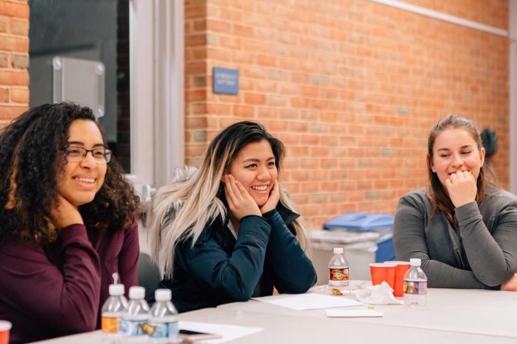 (Left to Right) Generation Hope Scholar Karen, Generation Hope Scholar Christina, and Generation Hope coach Sophie -